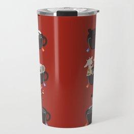 Animal in hot tub holiday tea Travel Mug