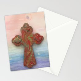 Celtic Cross Watercolor Stationery Cards