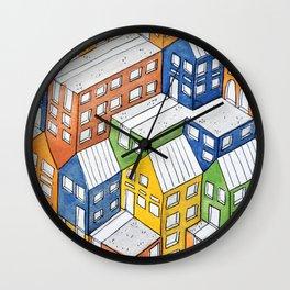 House on house Wall Clock