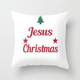 Hilarious & Joyful Xmas Tshirt Design The reason of Christmas Throw Pillow