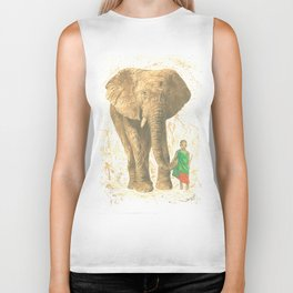 The elephant and the child queen Biker Tank