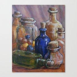 Splash Of Colored Glass Canvas Print