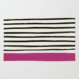 Raspberry x Stripes Rug