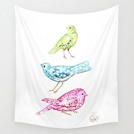 Three Little Birds Wall Tapestry