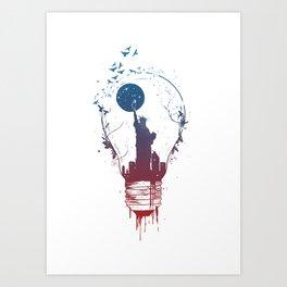 Big city lights II Art Print