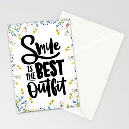 Smile is the Best Outfit Stationery Cards
