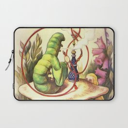 Alice & The Hookah Smoking Caterpillar - Alice In Wonderland Laptop Sleeve