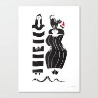 stripe Canvas Prints featuring stripe by unaillust
