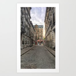Empty Old Montreal Art Print