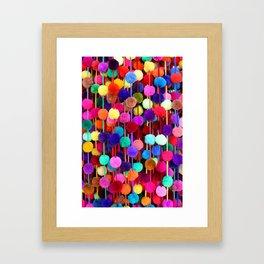 Rainbow Pom-poms (Vertical) Framed Art Print