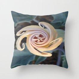 Sacred Datura Throw Pillow