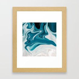 Abstract painting blue Framed Art Print
