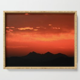 Amazing Arizona Sunsets XI Serving Tray