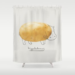 Hippotatomus Shower Curtain
