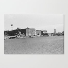 greenpoint muraled warehouse Canvas Print