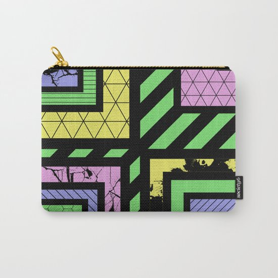 Pastel Corners (Abstract, geometric, textured designs) Carry-All Pouch