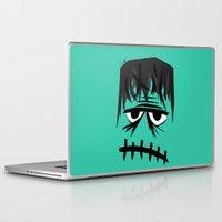 frankenstein Laptop & iPad Skins featuring Frankenstein by geojey