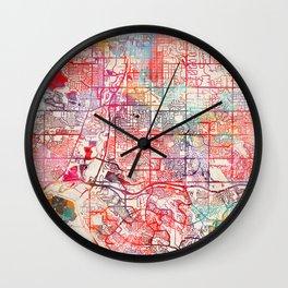 Littleton map Colorado CO Wall Clock