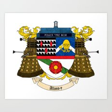 Doctor Who Coat of Arms Art Print