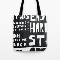 coldplay Tote Bags featuring stART by Ines92