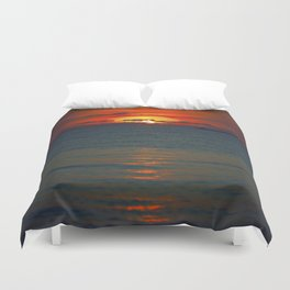 Fire in the Sea Duvet Cover