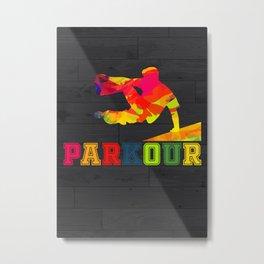 Parkour Freerunner Gift Idea Metal Print