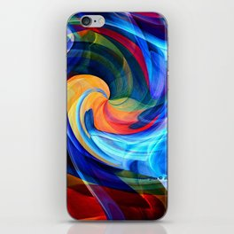 This Kiss Digital Abstract Art By Annie Zeno iPhone Skin