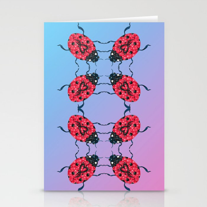 Lady Bug Mandala Stationery Cards