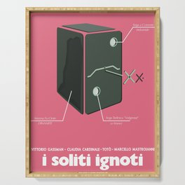 I soliti Ignoti (big deal on Madonna street, movie poster, Monicelli, Totò, Marcello Mastroianni Serving Tray