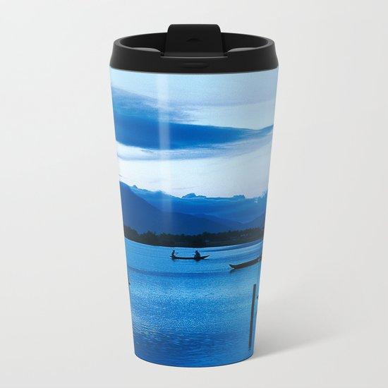 BLUE VIETNAMESE MEDITATION Metal Travel Mug
