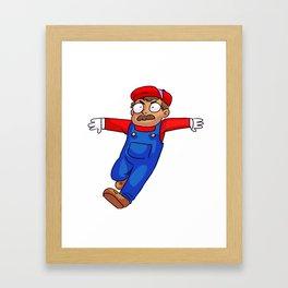 Supermario jumpman!! Framed Art Print