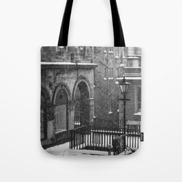Old Town Lamppost Tote Bag