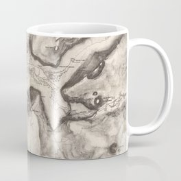 Vintage Map of Yosemite Valley (1870) Coffee Mug
