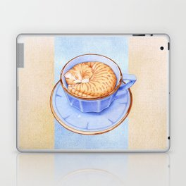 Cat in Coffee Laptop & iPad Skin