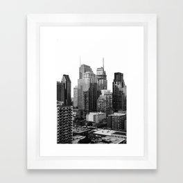 Montreal Québec, Canada City Skyline Downtown Framed Art Print