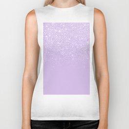 Modern pastel purple lavender ombre glitter color block Biker Tank