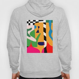 Bold and vibrant abstract shapes Hoody