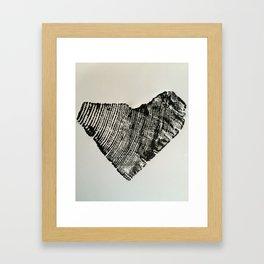 75 Year Heart Framed Art Print