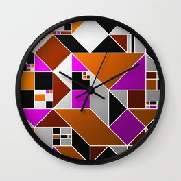 Metallic Mosaic - Geometric, abstract pattern Wall Clock
