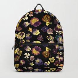 Dark Pansies Backpack