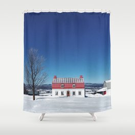 Tiny Red House Shower Curtain