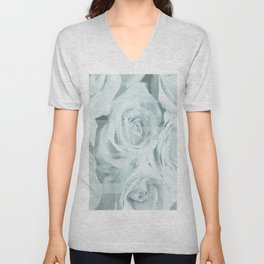 Roses collage Unisex V-Neck