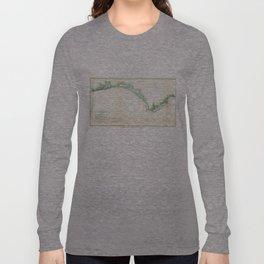 Vintage Florida Panhandle Coastal Map (1852) Long Sleeve T-shirt