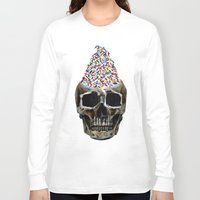 sprinkles Long Sleeve T-shirts featuring Mr. Sprinkles by Vikki Sin