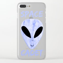 Violet Blue Space Cadet Clear iPhone Case