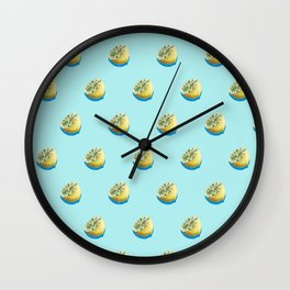 Lemonade Blue Wall Clock