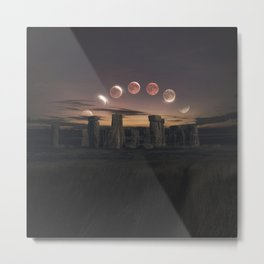 Blood Moon Eclipse, UK Metal Print