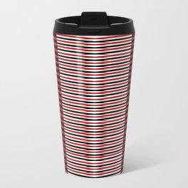 Black and red lines background Travel Mug