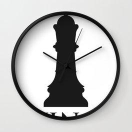 King Chess Player Wall Clock