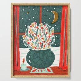 Winter Solstice Still Life by Amanda Laurel Atkins Serving Tray